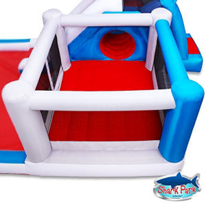 Blast Zone Shark Park Inflatable Water Park Bouncer top