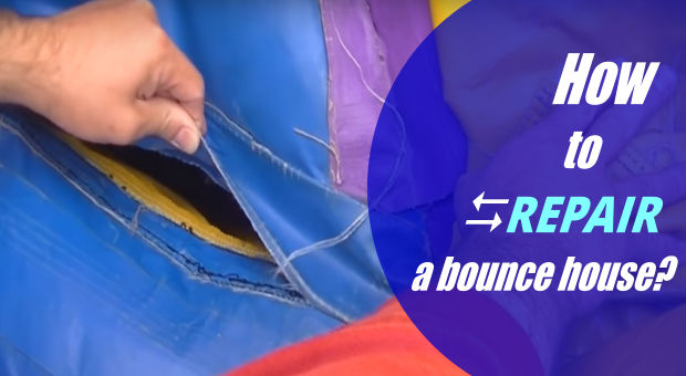 How to repair a bounce house