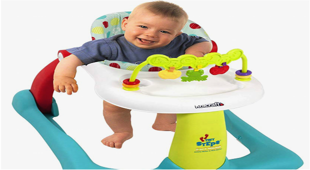Kolcraft Tiny Steps 2-in-1 Activity Baby